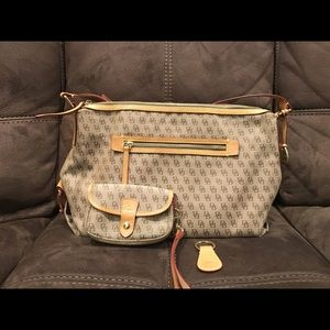 Dooney and Burke purse and accessories, EUC